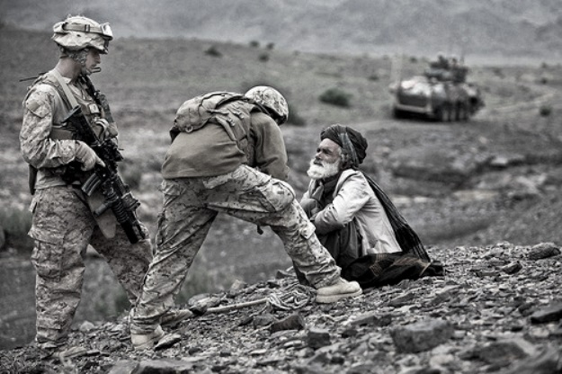 Afghan elder, interpreter, US soldier...