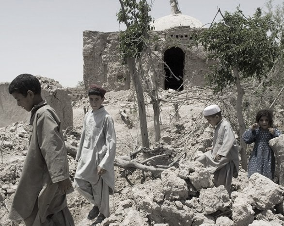 destroyed village in afghanistan