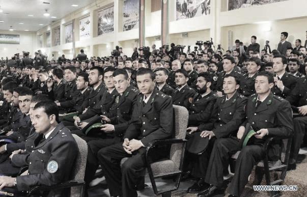 army officer graduation kabul