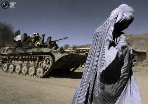blue burka ghost & wanna-be tank