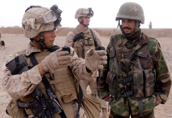 Marines hone Afghan soldiers' marksmanship