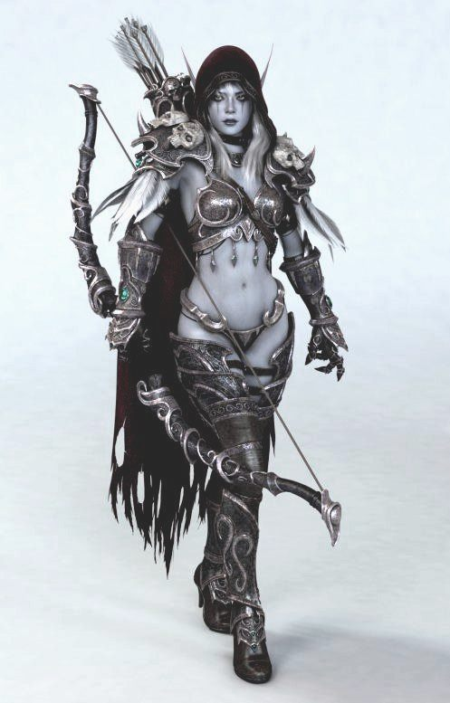 sylvanas_windrunner_fantasy_archer_digital_art-faded-2