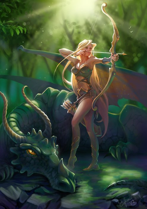 Green_Dragon_woman_archer