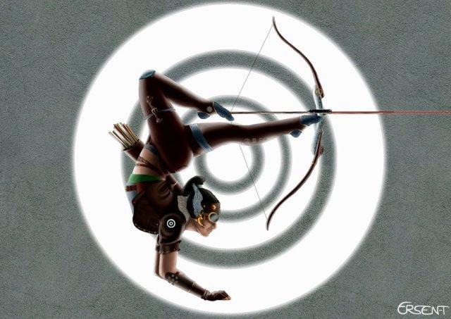 2d_woman_archer